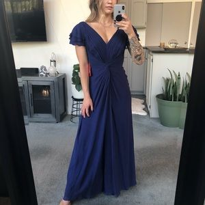 NWT Tadashi 4 Petite Blue Gown